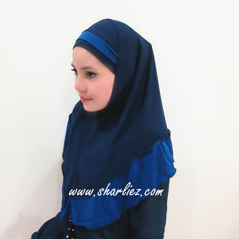 Tudung & Shawl double colour double tone rose flower 2