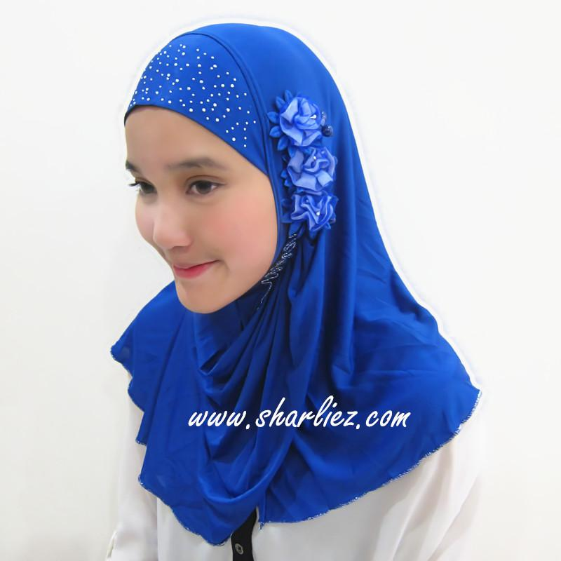 Tudung & Shawl flower beads diamond 3