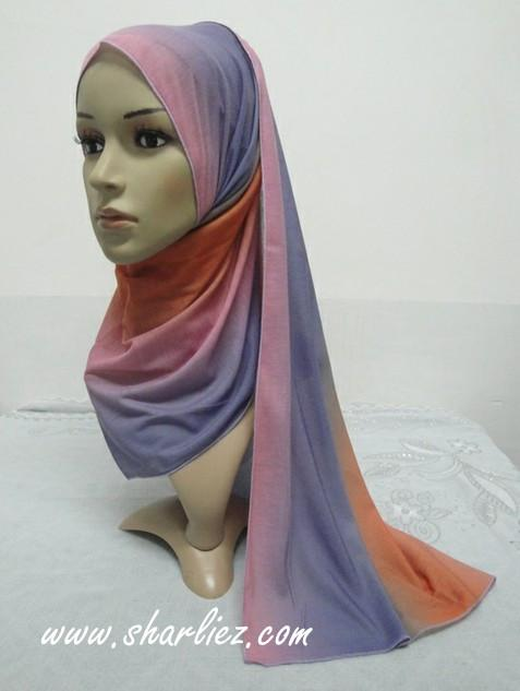Tudung & Shawl mixed colour multi colour 2