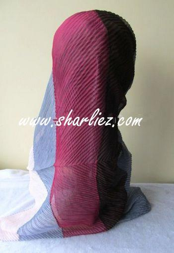 Tudung & Shawl Mixed Colour Tone crease 2