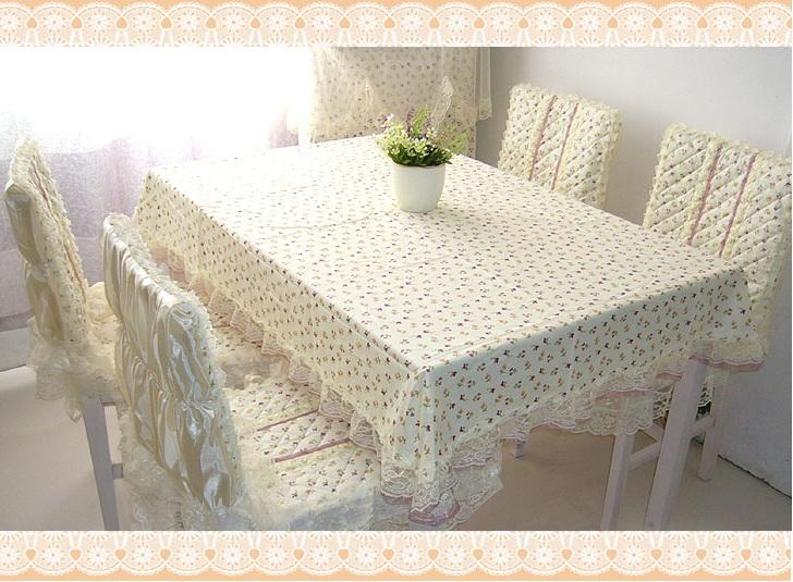 Tulip Square Dining Table Cloth Full Set For 4