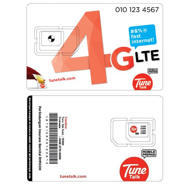 Tune Talk Prepaid SIM Card/VIP Mobile Number/RM45 credit+FREE 1GB data