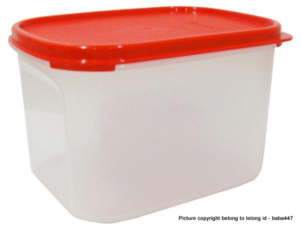 TUPPERWARE 1PC 1.9L MODULAR MATES MINI RECTANGULAR 2 II - RED / BLACK