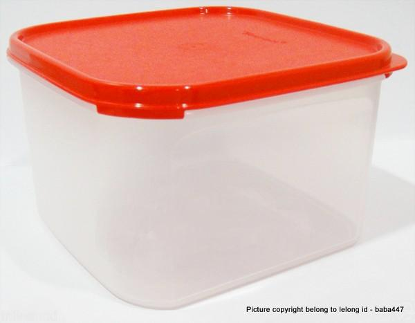 TUPPERWARE 1PC 2.6L MODULAR MATES SQUARE 2 II BLACK or red
