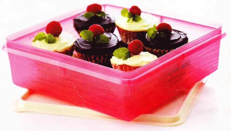 TUPPERWARE 1X BAKE TO BASICS B2B SNACK STOR STORE PINK