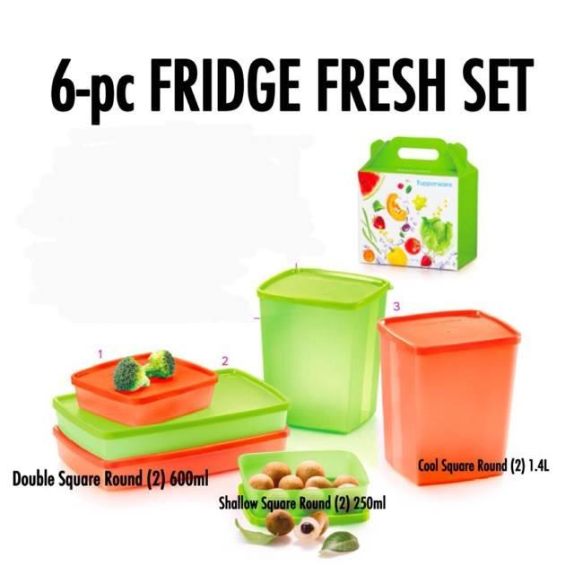 Tupperware 6pc Fridge Fresh Set