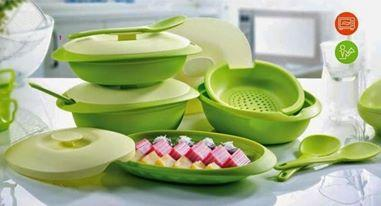 Tupperware Blossom Microwaveable Reheat-able Serving Essential Set