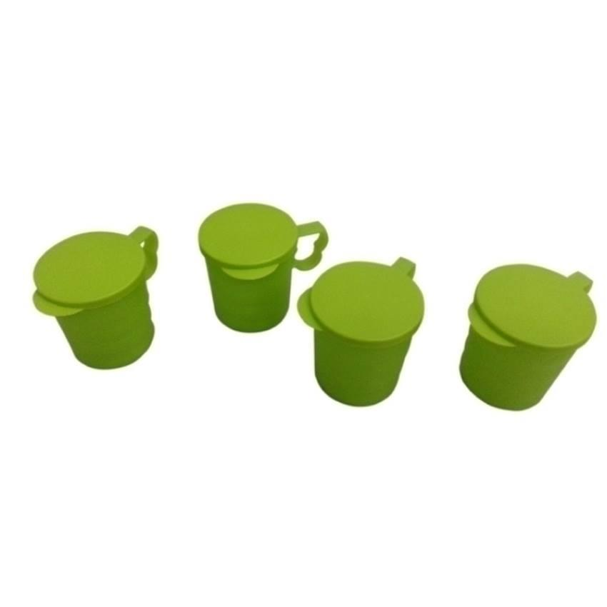Tupperware Blossom Mugs and Seal (4) 350ml
