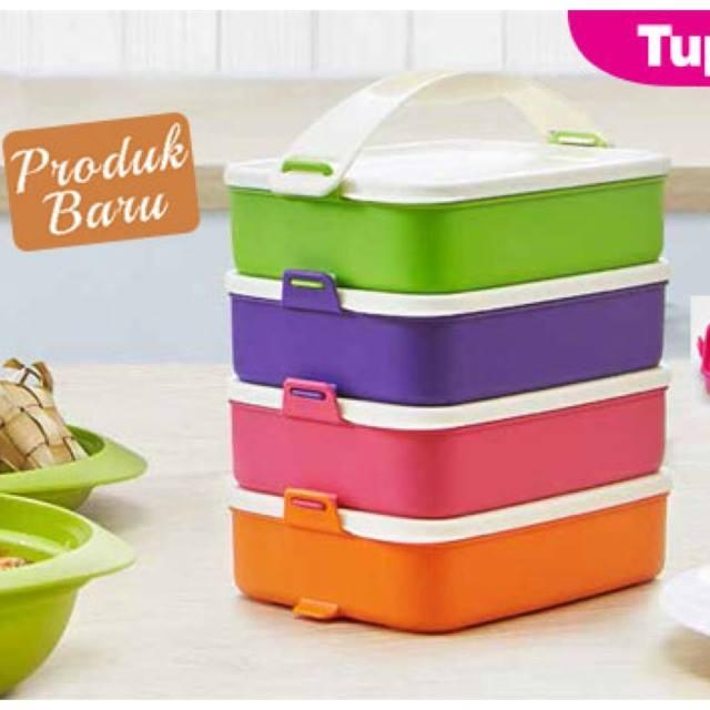 Tupperware Click To Go (4) 900ml with (1) Handle
