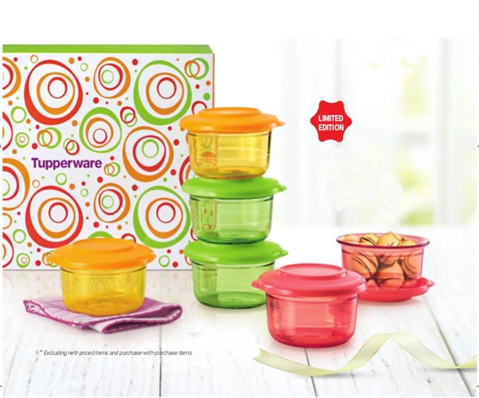 Tupperware Crystal Candy Set (2) pcs