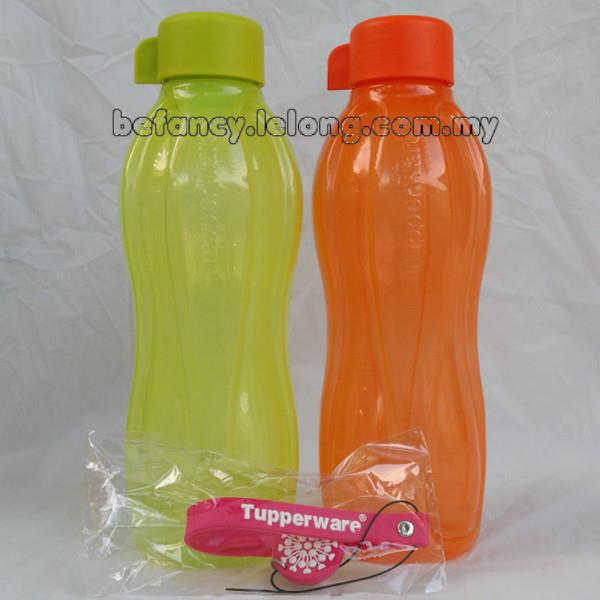 Tupperware Eco Bottle (2) 750ml Green & Orange