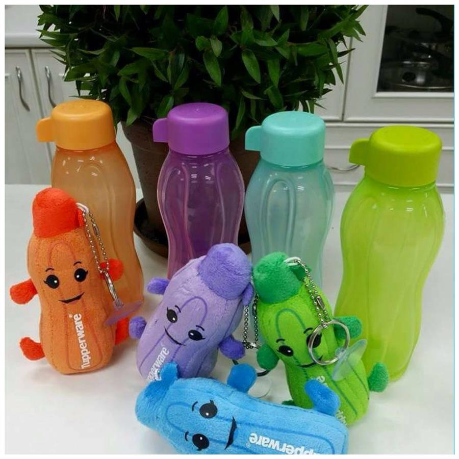 Tupperware Eco Bottle 310ml (4) with One Toy (1) Random Send Color