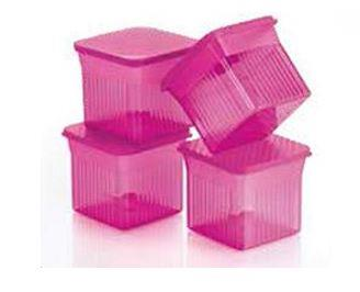 Tupperware Elegant Small Square (4) 510ml