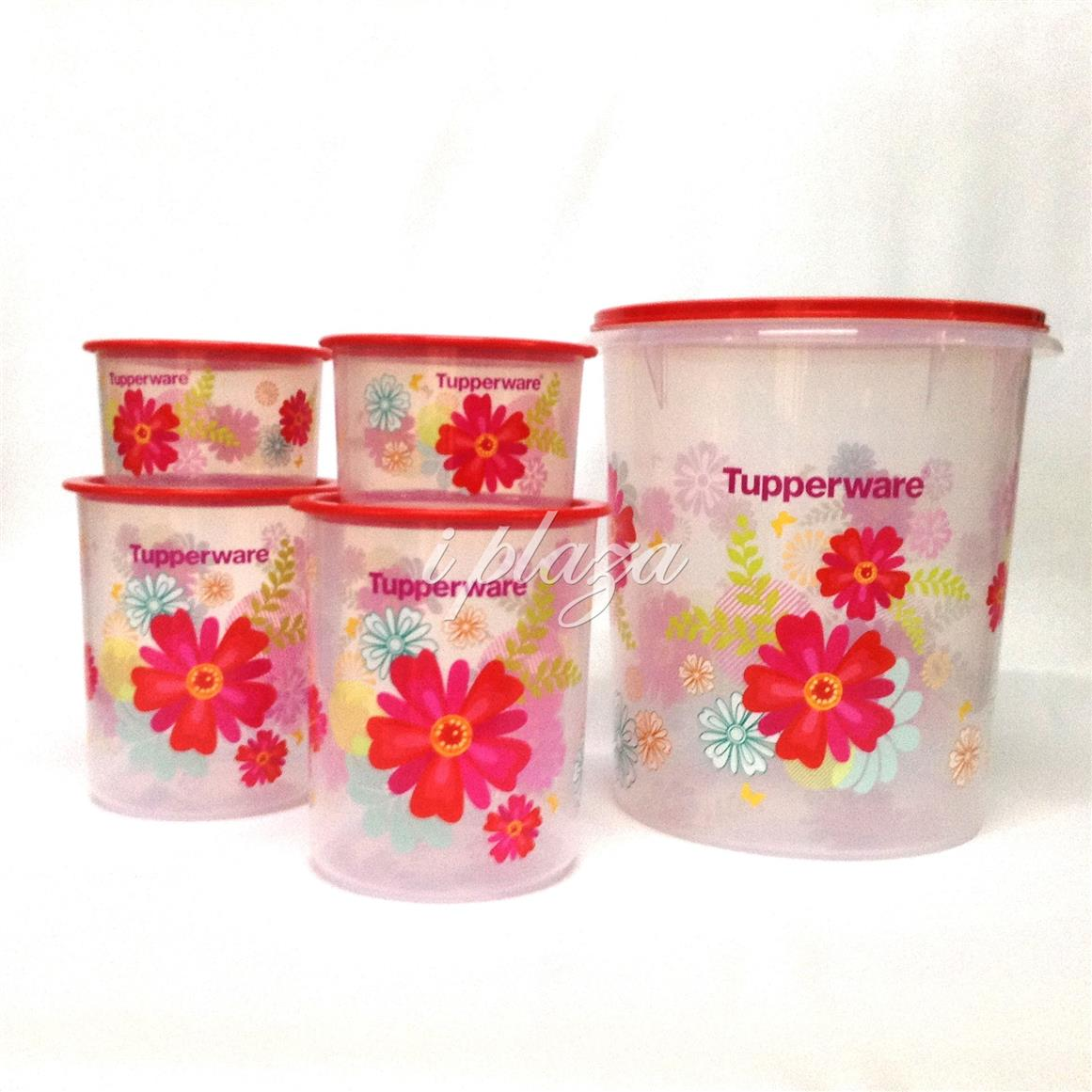 Tupperware Fortune Blossom One Touch Set (5)