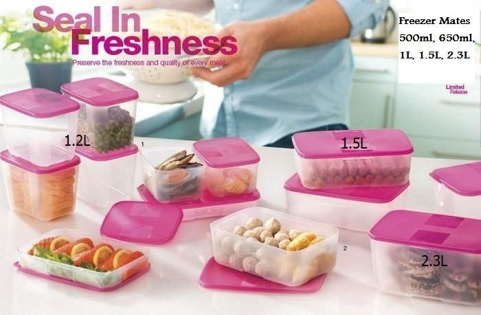 Tupperware Freezer Mates Pink - 1.2L / 1.5L / 2.3L