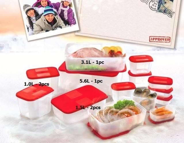 Tupperware FreezerMate Set (6pcs set)