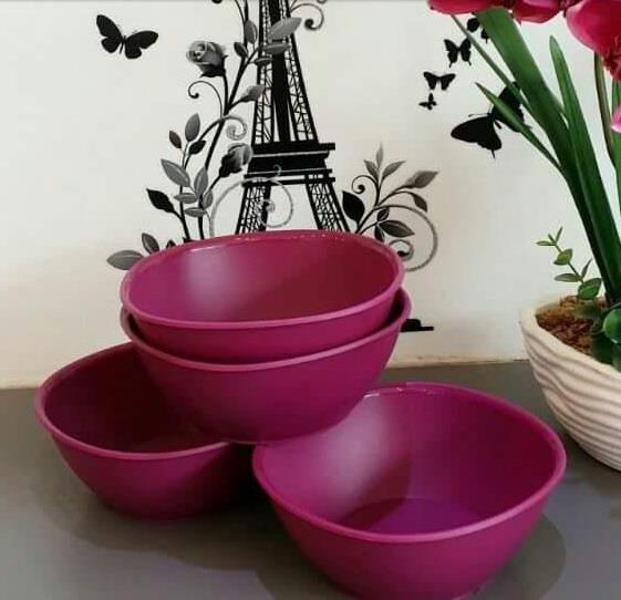 Tupperware Lady Lavender Bowl (4) 700ml
