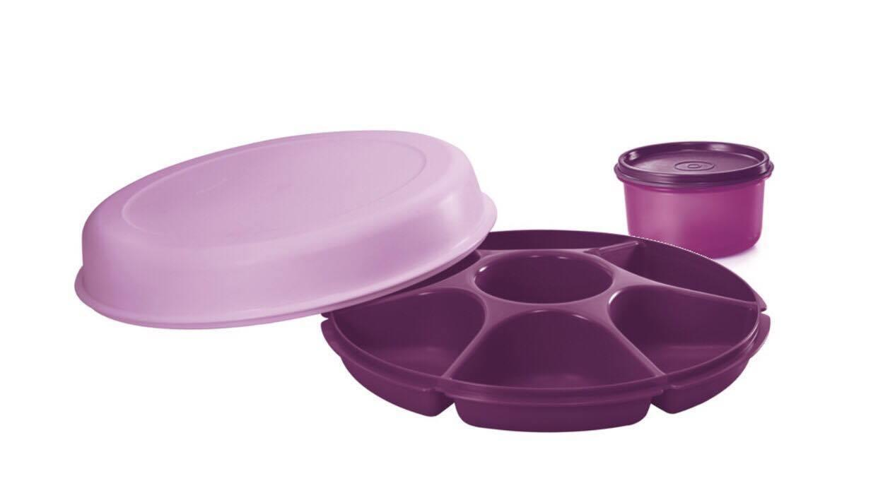 Tupperware Lady Lavender Serving Centre (1)