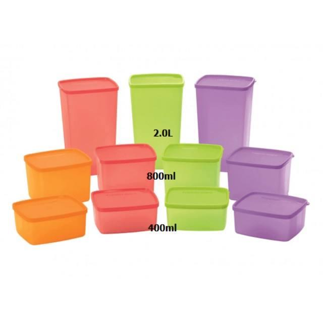 Tupperware Large Square Round (1) 800ml