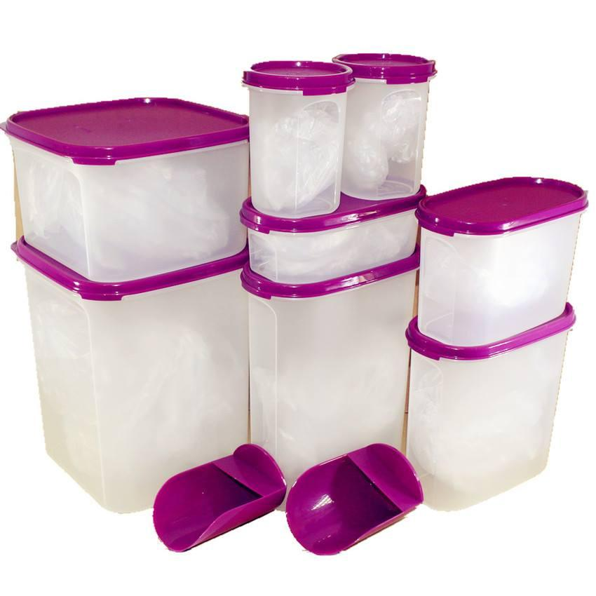 Tupperware Mega Modular Mates Set (8) with Rocker Scoop (2)