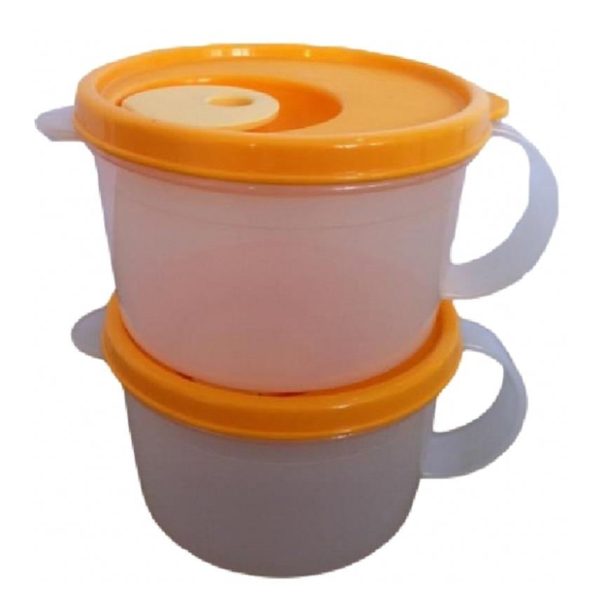 Tupperware Microwaveable Reheat-able Soup Mug (2) 460ml