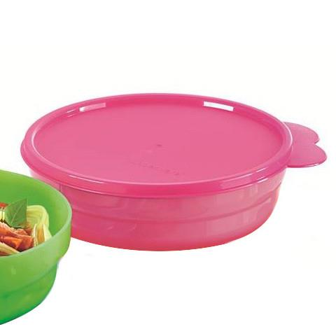 Tupperware Microwaveable Round Server (1pcs) 500ml -PINK bekas makanan