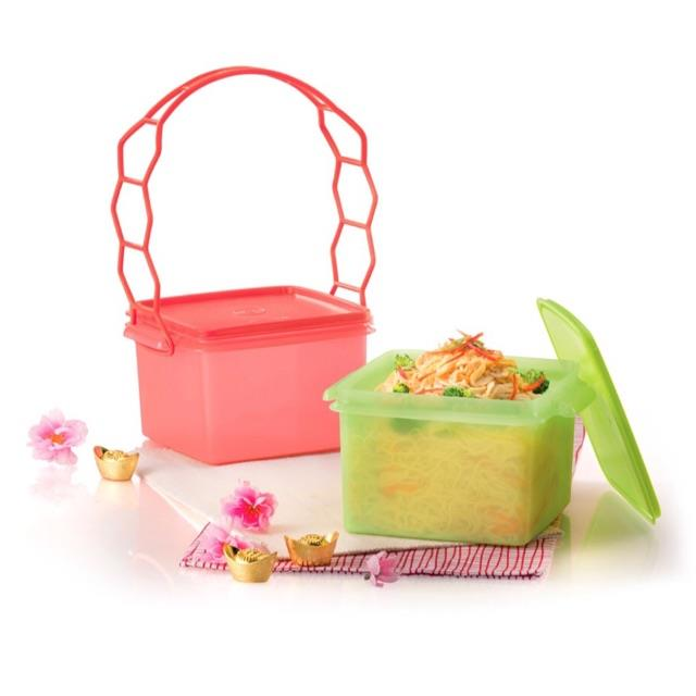 Tupperware Prosperity Deep Saver with Cariolier  (2) 1.7 each