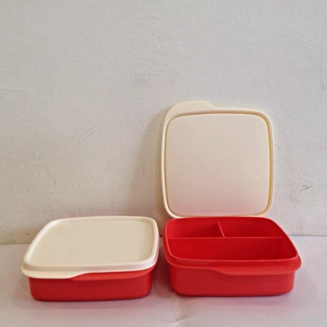 tupperware red lolly tup bento lunch end 8 3 2016 12 15 am. Black Bedroom Furniture Sets. Home Design Ideas