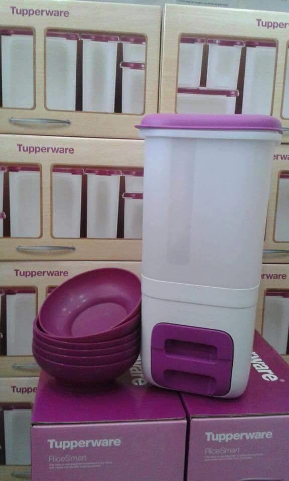 Tupperware Rice Smart (1) with free Bowl (6) - Purple