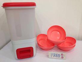 Tupperware Rice Smart (1) with free Bowl (6) - Red