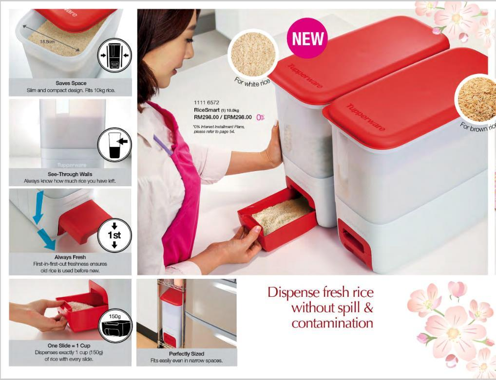 how to clean tupperware rice dispenser