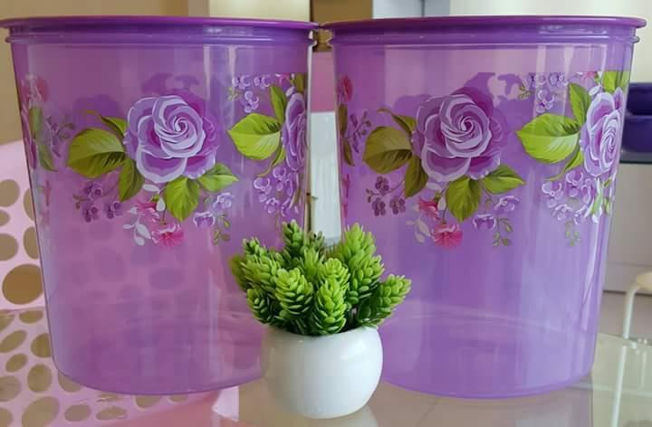 Tupperware Royal Rose Maxi Canister (2) 5.5L