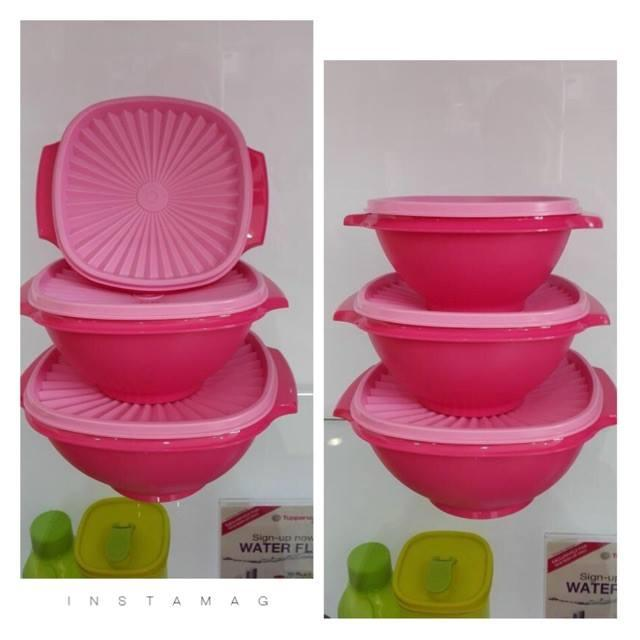 Tupperware Ruby Pink Bowl (3)