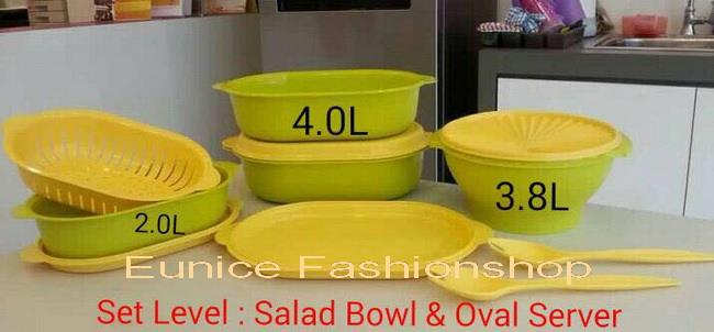Tupperware Salad Bowl & Oval Server