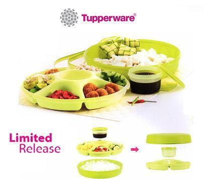 Tupperware Serving Centre (1) orange with white seal