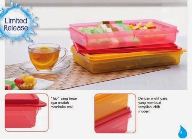 Tupperware Slice n store (4) 1.4L with pick (4)