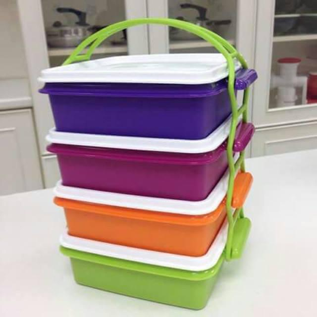 Tupperware Small Goody Box with Cariolier (4) 790ml each