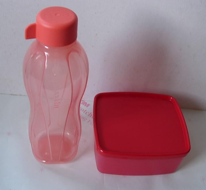 Tupperware Square Round 500ml + Eco Cherry, 500ml * Free Post!