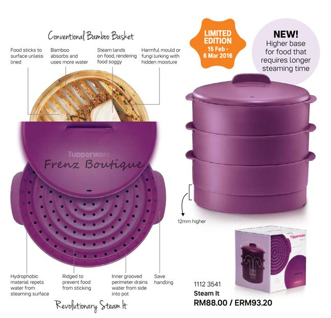 Tupperware Steam It 3 layer Purple ~ Limited Edition!