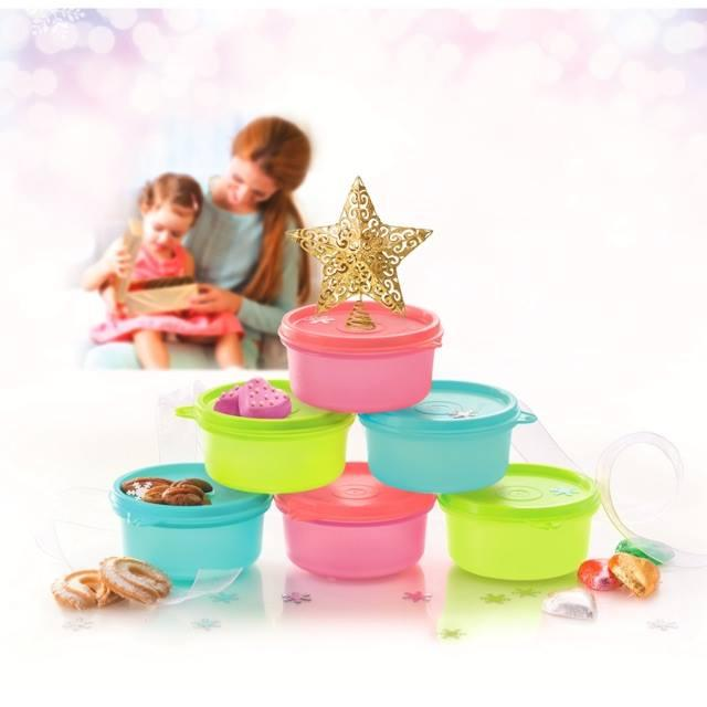 Tupperware Sweet Mini Keeper (6) 200ml with Organza Bag (1)