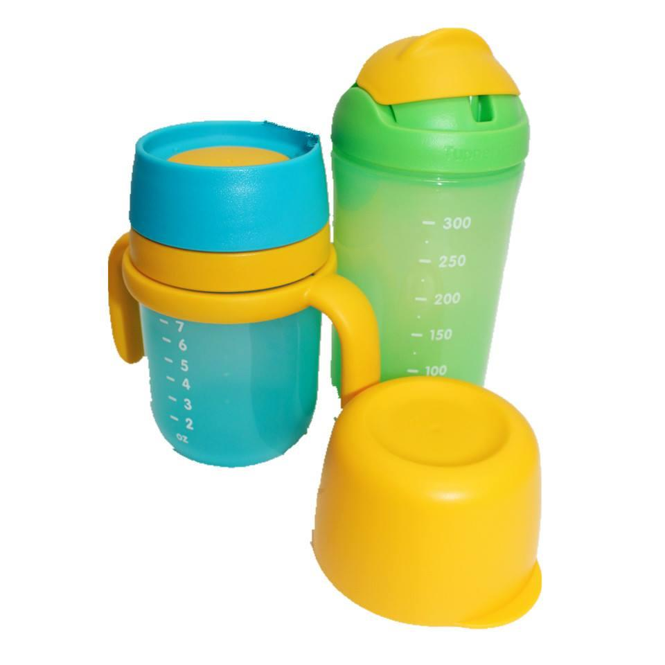 Tupperware Twinkle Training Cup (1) and Straw Tumbler  (1) Set