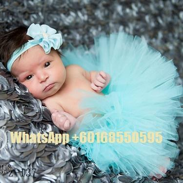 Tutu Skirt + Hairband Tiffany Blue Baby Infant Photography Custome