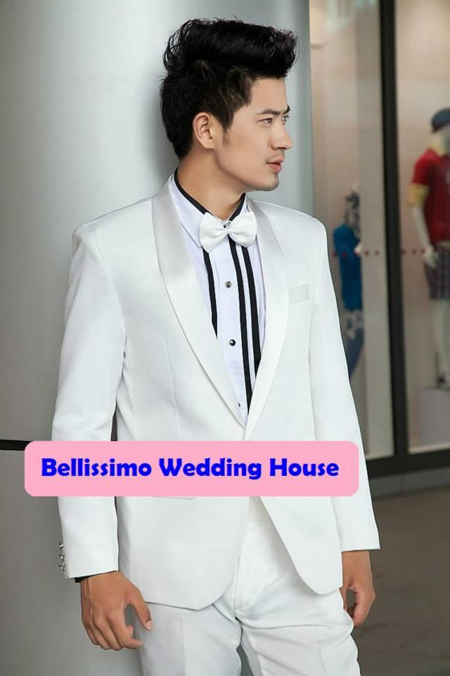 Tuxedo Suit Quality Men / Man Blazer Formal Coat Jacket Wedding PWHITE