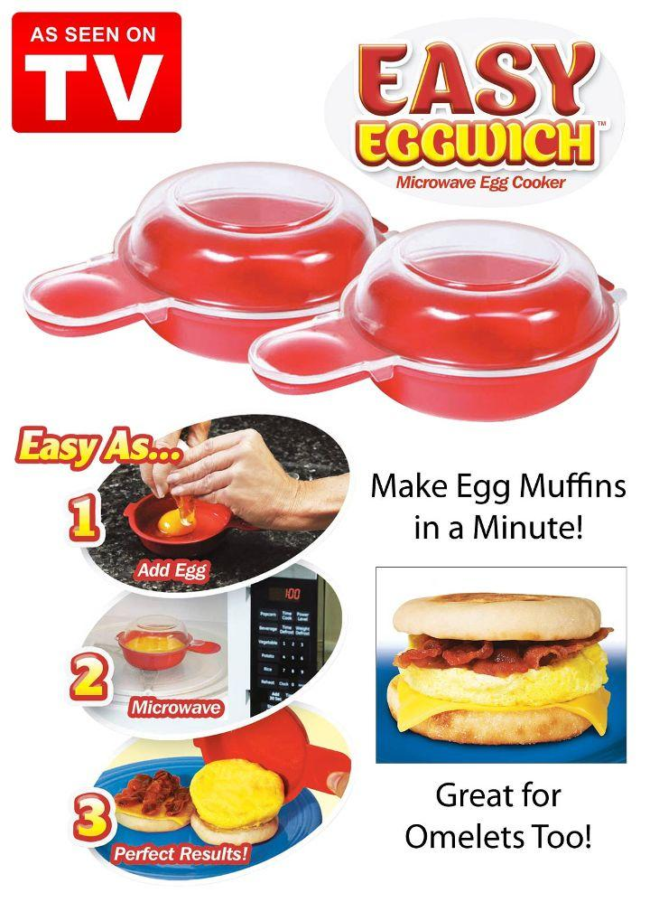 As Seen On TV~ Easy Eggwich Microware Egg Cooker