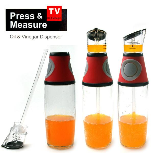TV Hot Selling !! Press & Measured Oil and Vinegar Dispenser 14721