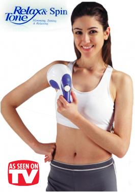 As Seen On TV~Relax & Spin Tone Slimming Massager