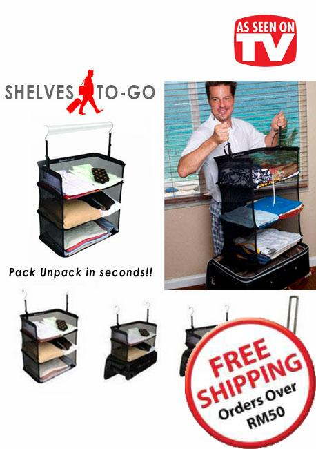 As Seen On TV~ Shelves-To-Go Packable Suitcase Shelves ~ 16485