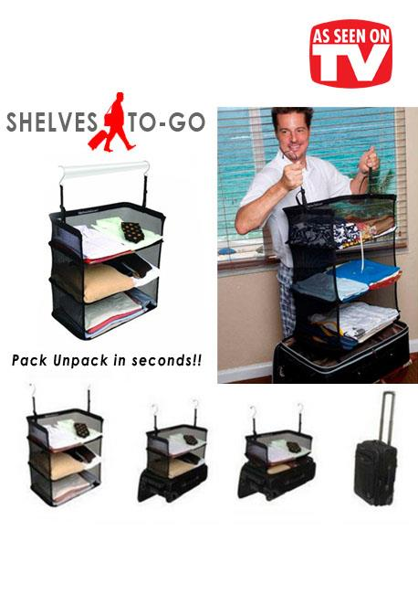 As Seen On TV~ Shelves-To-Go Packable Suitcase Shelves