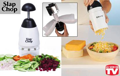 As Seen On TV SLap Chop Multi Purpose Chopper + Graty