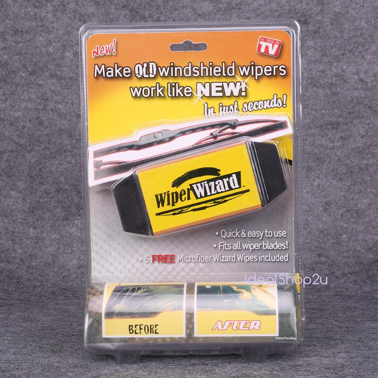 As Seen On TV Wiper Wizard Easy Clean Windshield Blade Restorer Repair